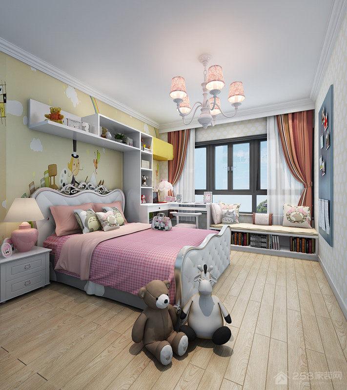 儿童房墙上置物架设计效果图