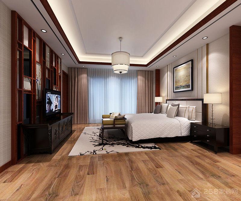 中式风格别墅卧室奢华装修效果图
