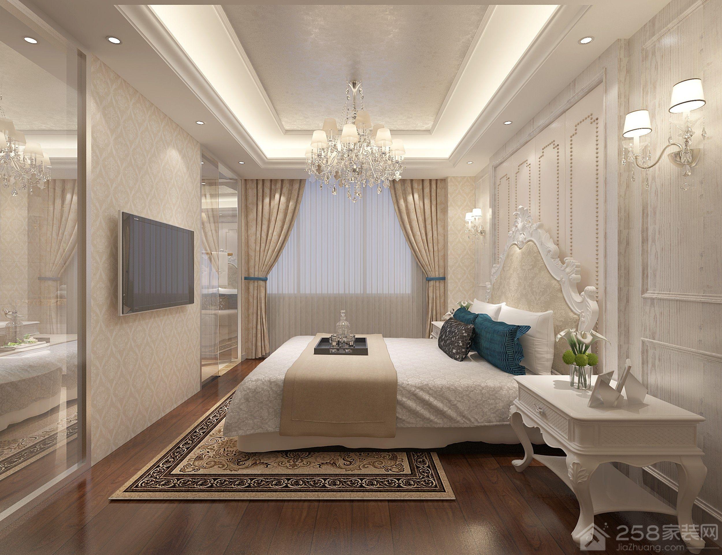 欧式风格卧室暖色调装修效果图