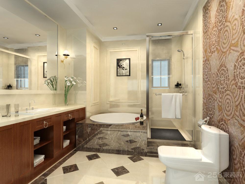 欧式风格卫生间实木浴室柜图片