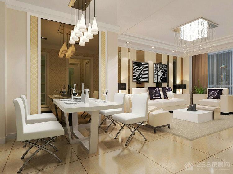 现代餐厅四人餐桌椅装饰图片