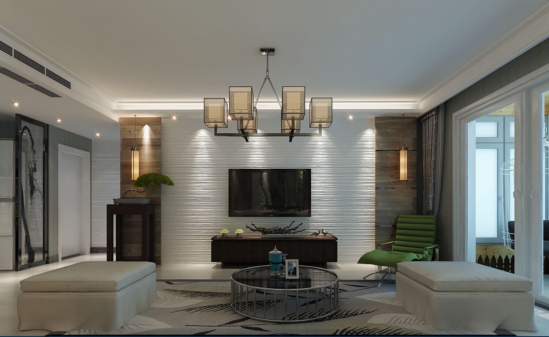 盛邦大都会二期139平三室两厅现代简约风格装修设计案例
