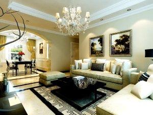 9万打造中海国际社区107平三室两厅一卫简欧风格