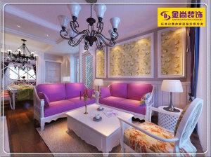 中海国际87平二居室田园风格装修设计效果图