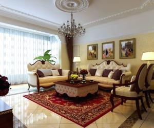 盘锦长湖新城西式古典200平米三居室装修设计