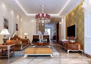 盘锦晋级装饰东方银座二居室-120平米-装修设计欧美风情