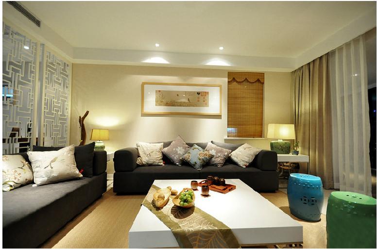 东方华尔街现代简约风格-80平米二居室