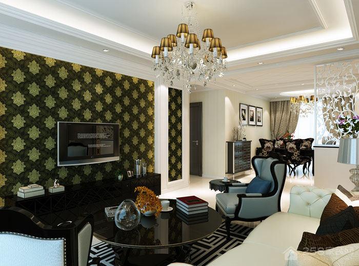 拥抱浪漫与时尚 海天翡翠城70栋4.8万打造半包简欧风格