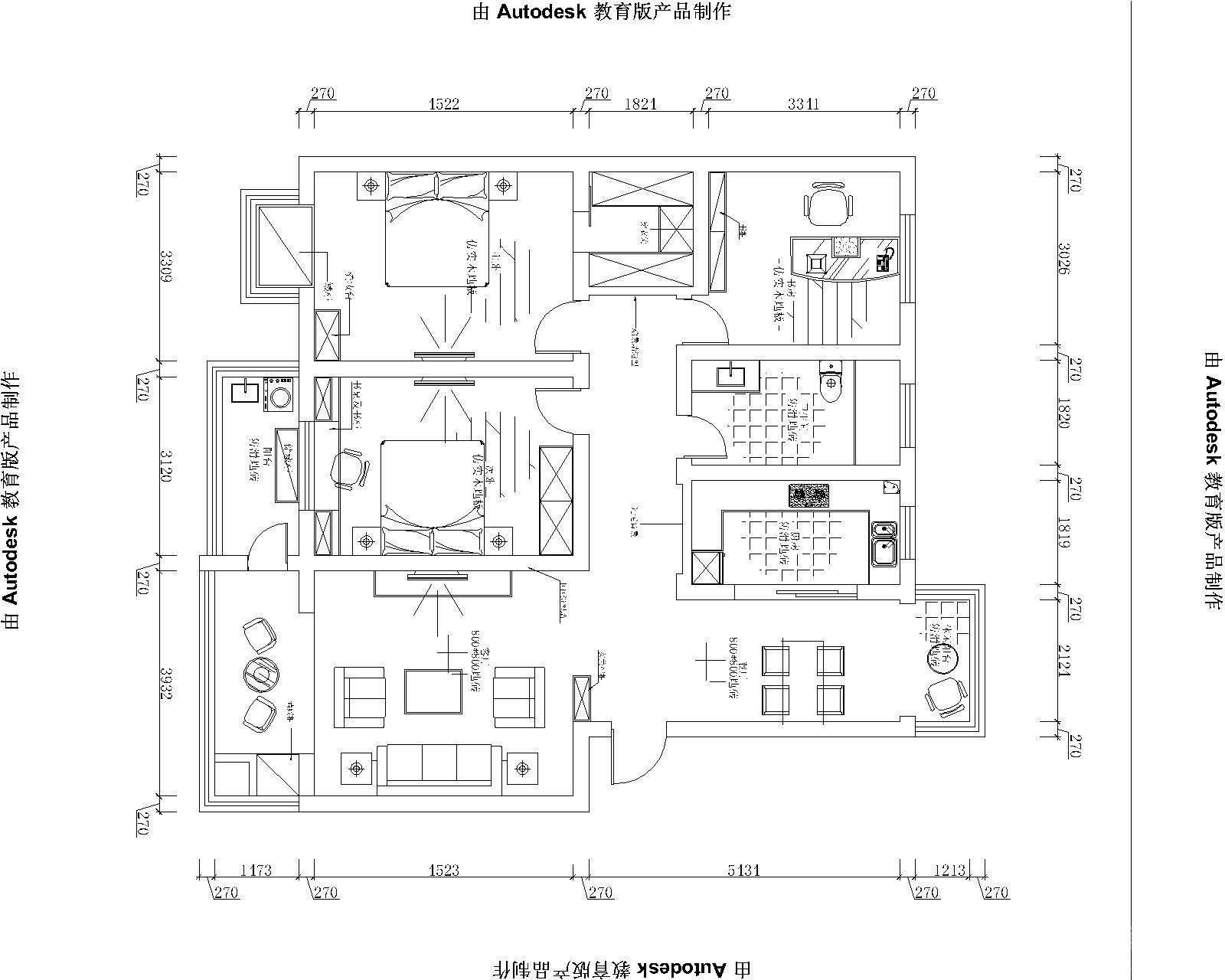 莲花六区三居室