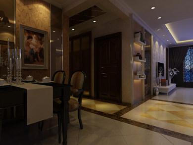 首创国际两居室中式风格