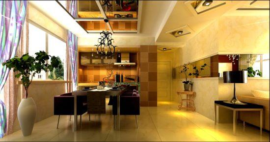 中海城140㎡三居室中式风格
